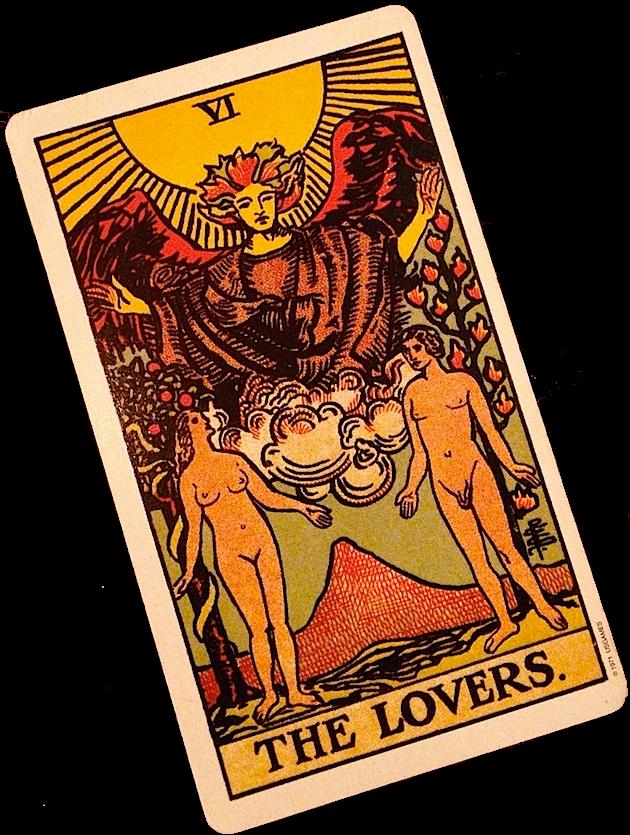 Trumfová tarotová karta Milenci