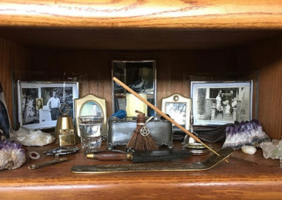 Miniaturí oltář wiccana